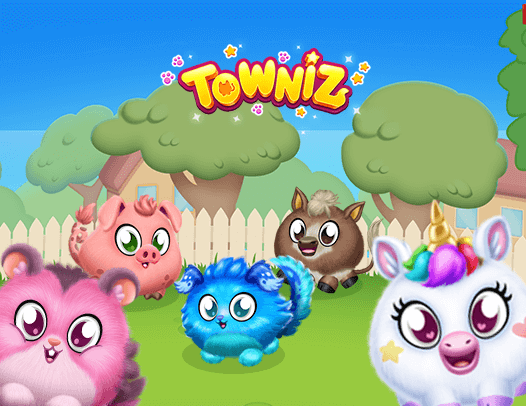 Feed, groom and play with Towniz.